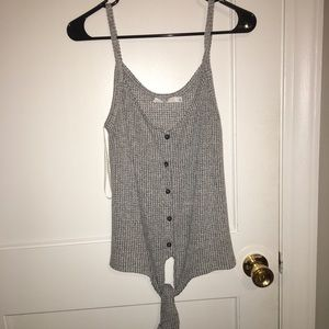 Knit Gray button-up tank